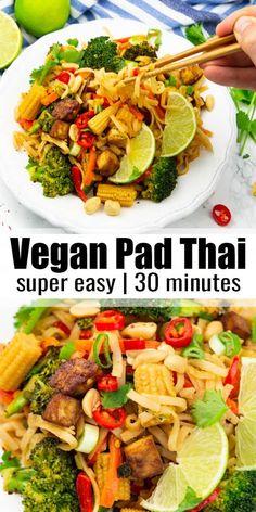 #veganheavenorg #veganrecipes #vegandinner #vegetables #perfect #recipes #minutes #flavor #crispy #packed #dinner #vegan #ready #vegan #veganThis vegan Pad Thai with crispy tofu and vegetables makes the perfect vegan dinner! It's super easy to make, packed with flavor, and it's ready in just 30 minutes. Find more vegan recipes at !