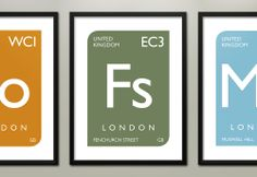 Periodically Home prints are inspired by the periodic table of elements and bus blinds, of course! Logo Branding, Branding Design, Logo Design, Logos, Catering Logo, Design Language, London Street, Periodic Table, Finding Yourself