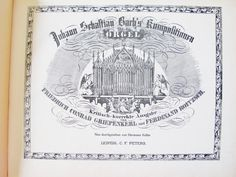 """1950, Vint ORGAN MUSIC BOOK, German, Johann Sebastian Bach, 3 Volumes in One, Griepenkerl, Roitzsch, Fuges, Fuga, C F Peters, 13"""" Oblong by AlpineCountryLooks on Etsy"""