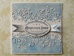 Memory Box Frostyville Border Die Card (Not found on site)