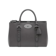 Mulberry Colour - Grey | Mulberry - Bayswater Double Zip Tote in Pavement Grey Silky Classic Calf