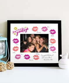 Your Bachelorette is going to love this unique keepsake from her amazing night out! • • • • • HOW IT WORKS • • • • • 1. Download the PDF 2. Print at home on standard white matte paper 3. Cut to 8x10 using crop marks (provided) and cut the center 4. Frame a fun photo after all