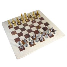Silver & gold chess pieces $179.95