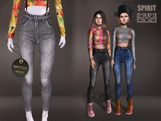 Spirit Store - Kusa skinny jeans [GRAY]