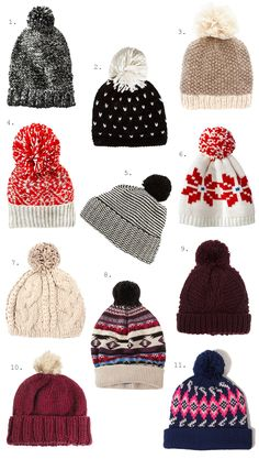 pom pom beanies: you need one, you can't deny it