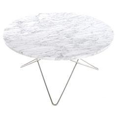 O soffbord, vit marmor/stål i gruppen Möbler / Bord hos RUM21.se (1025646)