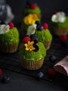 Mechové cupcaky   Máma peče doma Baking Tips, Muffins, Cheesecake, Paleo, Food And Drink, Low Carb, Cupcakes, Sweets, Cookies