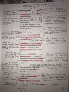War Photographer- GCSE Power and Conflict poem annotation Aqa English, English Tips, School Goals, School Study Tips, Revision Notes, Study Notes, English Literature Classroom, Gcse Poems, English Gcse Revision