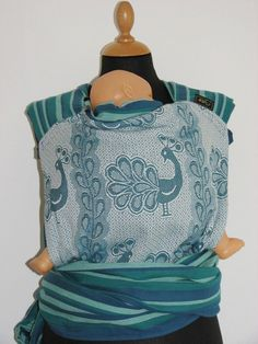 Wrap Mei Tai Baby Carrier From Didymos Petrol by Topatopslings, $159.00