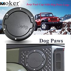 Moker Aluminum Powder-Coated Fuel Filler Door Cover Gas Tank Cap with Dog Paws Logo fits all Jeep Wrangler 2007 thru 2016 Models - http://www.caraccessoriesonlinemarket.com/moker-aluminum-powder-coated-fuel-filler-door-cover-gas-tank-cap-with-dog-paws-logo-fits-all-jeep-wrangler-2007-thru-2016-models/  #2007, #2016, #Aluminum, #Cover, #Door, #Filler, #Fits, #Fuel, #Jeep, #Logo, #Models, #Moker, #Paws, #PowderCoated, #Tank, #Thru, #Wrangler #Jeep-Parts-Accessories