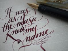 Some of Leigh Reyes' beautiful calligraphy.