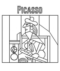 Pablo Picasso Coloring Pages Free Art Coloring Pages Museumchick Pablo Picasso, Kunst Picasso, Picasso Art, Coloring Books, Coloring Pages, Free Coloring, Kids Coloring, Coloring Sheets, Adult Coloring