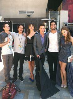 Stiles, Scott, Allison, Jackson, Derek, and Lydia