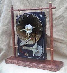 HDD, hard drive, clock, часы, винчестер, жёсткий диск, техновсячина