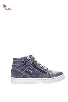 BLACK JARDINS JUNIOR 34000 chaussures de bébé bleu mi zip lacets baskets 28 Stq1c