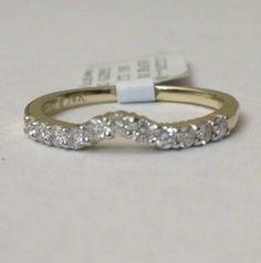 White Gold Prong Diamonds Solitaire Wrap Ring Enhancer Contour Band-RG321195484813