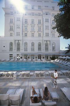 Iconic Hotel Copacabana Palace, Rio de Janeiro, Brazil.