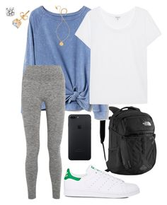 """""""so happy that finals week is over"""" by madelines-fashions ❤ liked on Polyvore featuring The North Face, Gap, adidas, Splendid, LNDR and Kate Spade"""
