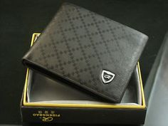 Pidengbao Mens Square Pattern Bifold Leather Wallet Purse Credit Cards Holder #Pidengbao Wallet#Wallet#Leather Wallet