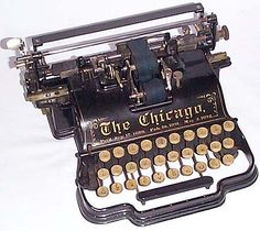 The Chicago antique typewriter