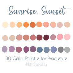 Pantone Colour Palettes, Color Schemes Colour Palettes, Colour Pallette, Color Palate, Pantone Color, Color Combos, Spring Color Palette, Spring Colors, Sunset Palette