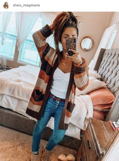 50 classy cardigan outfits for spring 2019 00050 ~ litledress Best Casual Outfits, Cute Fall Outfits, Mom Outfits, Fall Winter Outfits, Autumn Winter Fashion, Spring Outfits, Cute Cardigan Outfits, Cold Spring Outfit, Shop This Look Outfits