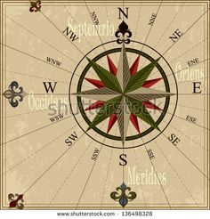stock-vector-vintage-compass-rose-nautical-vector-illustration-with-wind-rose-136498328.jpg (450×470)