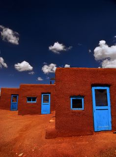 Three Doors of Taos, New Mexico #architecture #vernacular