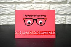 I have my eyes on you card, Birthday Card, Valentine's day card, Anniversary card, No occasion card by NishsCreations on Etsy