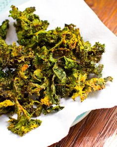 Cheezy Kale Chips. Saturday snacking.