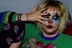 how to makeup Makeup Inspo, Makeup Art, Makeup Inspiration, Eye Makeup, Circus Aesthetic, Aesthetic People, Looks Halloween, Halloween Makeup, Halloween Photos