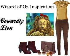 Wizard of Oz Inspiration - Cowardly Lion, created by icebubbletea on Polyvore