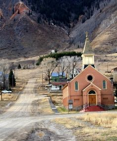 Silverton, Colorado, We stayed in the house just behind the church.