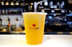 chinalife Peach Fuzz fruity #tea #cocktail contains our medium roasted and fruity Peach Flower Oolong, supercharged with fresh citrus juices.