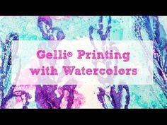 Hi there! It's Marsha here today with a fun little watercolor technique! Watch this video to get some tips and tricks for using watercolors on your Gelli® pl...