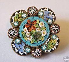 micro mosaic | Italian Micro Mosaic Jewelry : eCharmony, Vintage Silver Enamel Travel ...