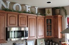 Top of cabinets