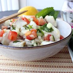 Ceviche is one of my favorite summer dishes. It's easy to make, very tasty, and perfect for a dinner on the balcony or in the garden.