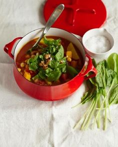 Fall Stew, lots of taste and flavors in this amazing stew.Just add fresh spinach before serving. #letsfixdinner