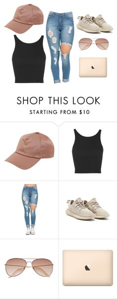 """""""Rose gold"""" by jahsanna ❤ liked on Polyvore featuring Acne Studios, Topshop, H&M, hat, beige and Yeezy"""