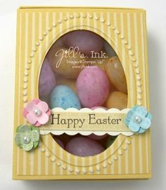 Easter Matchbox..Stamp Set Teeney Tiny Wishes ..Download Easter Matchbox Instructions..By:jillsink