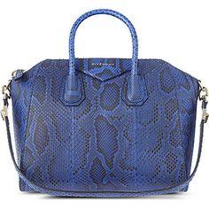 5bc72aaafd19 GIVENCHY Antigona Python satchel (Bright blue python