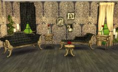 Adele Victoria Gothic Set Recolors by Ilona TS4 http://mylittlethesims3world.blogspot.com.es/2015/09/adele-victoriangothic-set-recolors.html