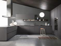 Italian Modern Design Kitchens - One by Ernestomeda Kitchen Cabinet Design, Modern Kitchen Design, Interior Design Kitchen, Modern Kitchens, Modern Design, Kitchen Furniture, Furniture Design, Küchen Design, House Design