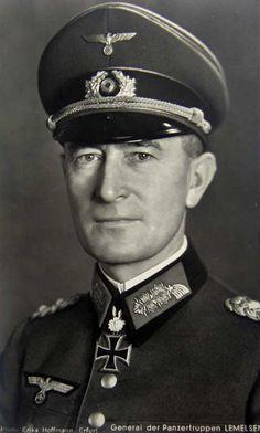 ✠ Joachim Lemelsen (28 September 1888 – 30 March 1954) RK 27.07.1941 General der Panzertruppe K.G. XXXXVII. Pz.K. 07.09.1943 [294. EL] General der Panzertruppe K.G. XXXXVII. Pz.K.