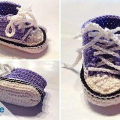 Baby-Chucks häkeln – Anleitung für trendige Babyschuhe