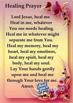 Prayer For Healing I Pray For Health Healing For You May God