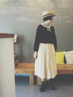 visuna | masumiさんのスカート「Honnete 」を使ったコーディネート