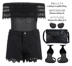 """""""Attitude"""" by oliverab ❤ liked on Polyvore featuring WALL, Yves Saint Laurent, black and rosegal"""