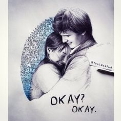 """"""" The Fault in Our Stars drawn by Toni Mahfud (x) """" Augustus Waters, Star Quotes, Book Quotes, Hazel And Augustus, Fault In The Stars, Wallpaper Bonitos, Toni Mahfud, John Green Books, Tfios"""